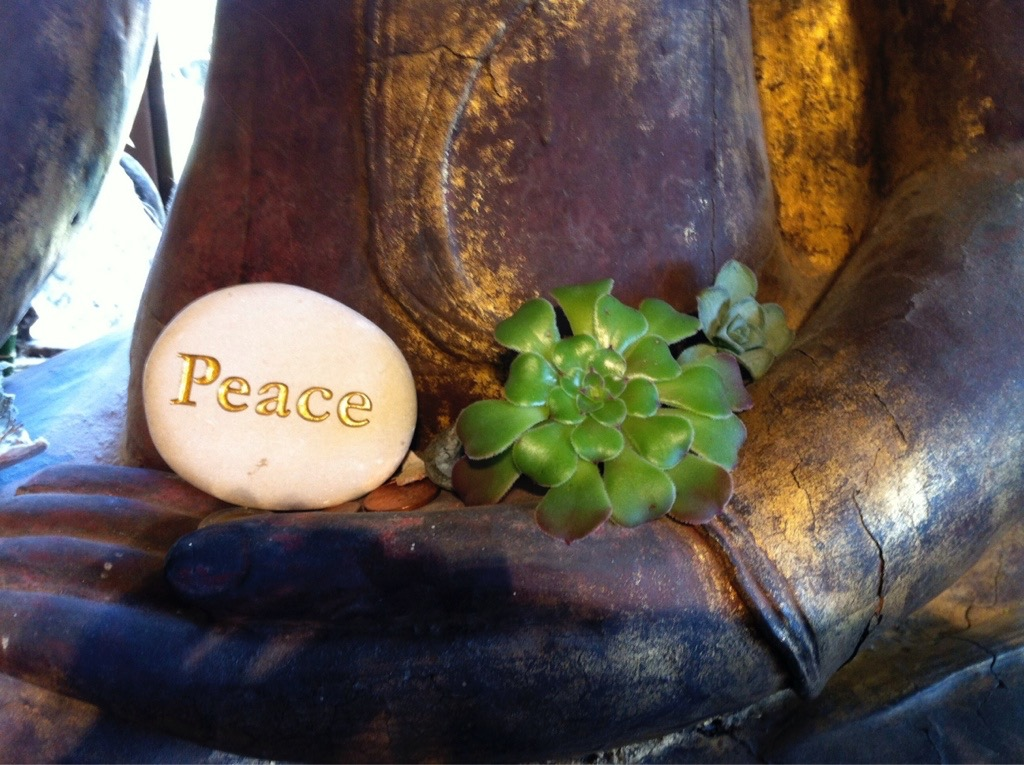 soap with peace engraved